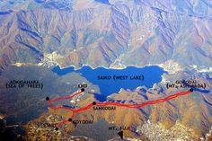 hiking nr aokigahara - fuji five lakes map - http://www.mikesblender.com/indexblog217.htm#