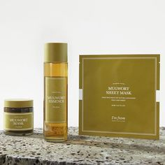 New best seller I'm From skin care. Mugwort is known to calm and soothe inflammation and irritated skin with its antibacterial, antifungal, and skin-healing properties. Rid redness from allergies or breakouts! 💆🏾♀️ Use the mask 1-2 times a week and the essence during your skincare routine! K Beauty Routine, Skincare Routine, Korean Skincare, Clean Beauty, Allergies, Rid, Finding Yourself, Healing, Calm