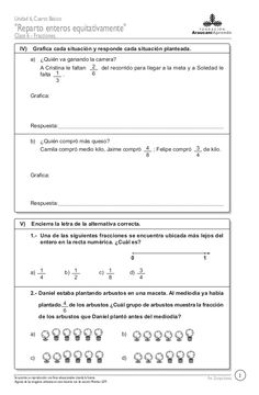 67332002 fracciones-italo[1] Math 5, Math Class, Fractions Worksheets, Sheet Music, Thing 1, Messages, Afro, School, Gabriel