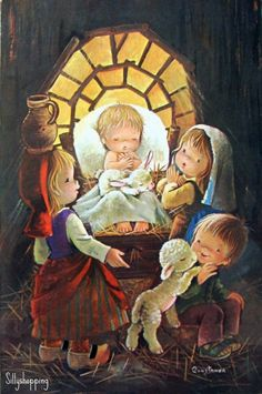 Nativity art by Constanza (Coustanza?) - found on silvitablanco