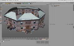 How to slice up photos on polygons to create three-dimensional buildings out of them.