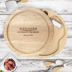 Our stunning Engraved Wooden Cheese Board Set - Established Family can be engraved with any message - Fast UK Delivery. Wooden Cheese Board, Cheese Board Set, Cheese Knife Set, Personalized Bridesmaid Gifts, Cheese Lover, Bride Gifts, Groom Gifts, Neighbor Gifts, Mother Of The Bride