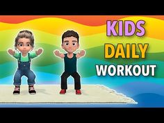 16 Min Kids Daily Workout - Fun Exercises At Home Physical Activities For Kids, Gross Motor Activities, Physical Education Games, Toddler Activities, Health Education, Workout Fun, Fun Workouts, At Home Workouts, Yoga For Kids