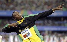 Triple Olympic champion Usain Bolt.