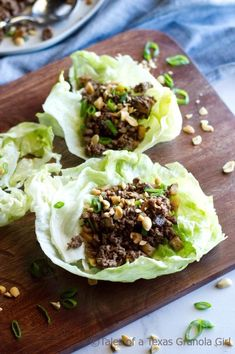 These cool, crisp Ground Venison Lettuce Wraps are bursting with Asian flavor! These quick and easy lettuce wraps will be a new family weeknight favorite! Ground Venison Recipes, Easy Lettuce Wraps, Venison Tenderloin, Granola Girl, Deer Meat, Lettuce Wrap Recipes, Wild Game Recipes, Italian Dishes, Healthy Recipes