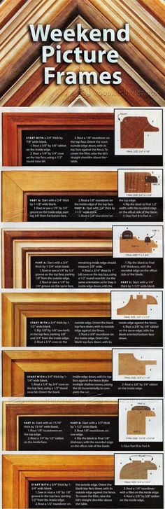 Router Made Picture Frame Plans - Woodworking Plans and Projects | WoodArchivist.com