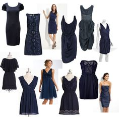 Navy blue dresses (for bridesmaids) // I actually like a majority of these