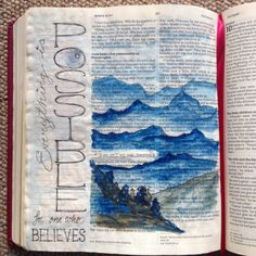 If You Can ... Draw Close Blog. belief, bible art, bible journal, bible journaling, bible study, Christian blog, everything is possible, faith, healing, if you can what if, Mark 9, Mark 9:23, Mountains, mustard seed, optimistic, perspective, tiny faith, truth, unbelief