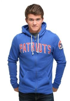 Stay warm and comfortable while watching the Patriots play in this New England Patriots Sunday Zip Up Hoodie for men.