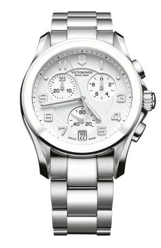 'Chrono Classic' Watch with Ceramic Bezel Silver