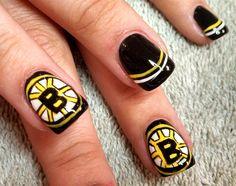 go BRUINS!! by aliciarock - Nail Art Gallery nailartgallery.nailsmag.com by Nails Magazine www.nailsmag.com #nailart