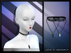 Jane & Elizabeth Necklace  Found in TSR Category 'Sims 4 Accessories Sets'