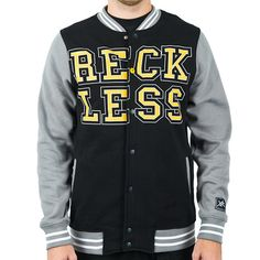 RECKLESS VARSITY JACKET- BLACK - Young   Reckless 0c96a9e4c