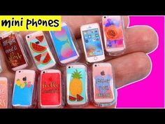 DIY Miniature Phone Cases + iPhone ~ Claire's inspired - YouTube
