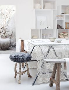 Make it cosy at home with these gorgeous knitted furniture pieces   My Cosy Retreat