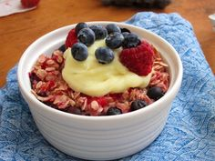 Double Berry Baked Oatmeal with Lemon Curd | The Oatmeal Artist