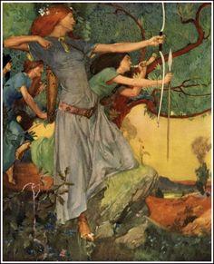 Le Morte d'Arthur  by W. Russell Flint
