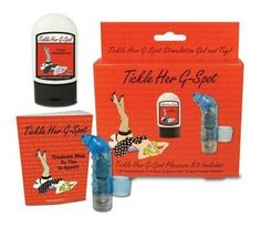 Tickle Her G Spot Kit - G-Spot orgasm gel, multiple-speed waterproof G-Spot finger vibrator and Treasure Map to the G-Spot educational guide book .