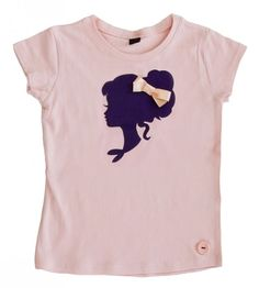 T-shirt korte mouw poederroze met paarse flockprint maat 2-3 (92-96cm) | Meisjes | zoetje