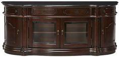 Versailles Widescreen TV Cabinet with Glass Doors - Furniture - Home Theater - Tv Stands   HomeDecorators.com