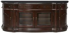 Versailles Widescreen TV Cabinet with Glass Doors - Furniture - Home Theater - Tv Stands | HomeDecorators.com
