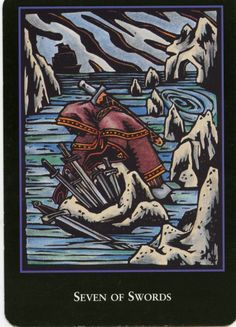 Betrayal, Deception. Those are keywords of the Seven of Swords Tarot Card. Respect it.