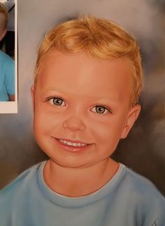 Custom Portrait from Photo of Kid Portrait Painting Drawing Original handmade gift / present by IvaARTStudio on Etsy