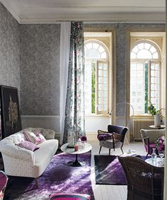 A beautiful purple based room from Designers Guild Castellani collection