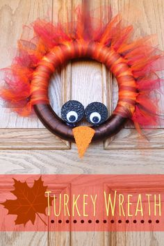 DIY Turkey Wreath // a super easy and incredibly cute wreath to adorn your front door during the month of November. How cute is this turkey, y'all? Door Crafts, Crafts To Do, Fall Crafts, Holiday Crafts, Holiday Fun, Holiday Parties, Holiday Ideas, Christmas Holidays, Thanksgiving Wreaths
