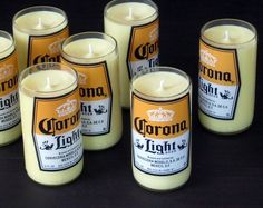 Soy Candles in Recycled Bottles Empty Candle Jars, Bottle Candles, Bottle Lights, Diy Candles, Corona Bottle, Beer Bottle, Recycled Glass Bottles, Oeuvre D'art, Mexico
