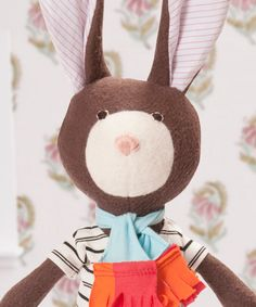 Zoe Rabbit — Hazel Village. Can be monogrammed, and they sell clothes, too.  Check out all of their dolls, so sweet.