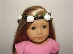 """Flower Princess Crown Tropical for 18"""" American Girl Doll BFC Ink Doll Clothes  #Handmade $4 FREE SHIP US seller"""