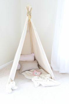 fabriquer un tipi pour enfant plan tente indienne bois tissu