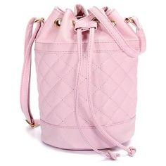 Women Candy Color Ling Bucket Crossdody Bag ($10) ❤ liked on Polyvore featuring bags, handbags, shoulder bags, pink shoulder bag, pink handbags, pink purse, crossbody purse and bucket handbag