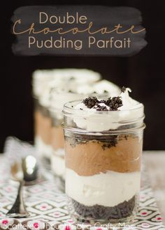 Double Chocolate Pudding Parfaits from scatteredthoughtsofacraftymom.com