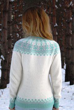 Ravelry: Markizza's Mint-strawberry ice cream Fair Isle Knitting Patterns, Knit Jacket, Knitting Projects, Hand Knitting, Boho Fashion, Knitwear, Knit Crochet, Pullover, Knit Sweaters
