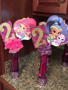 Shimmer and shine centerpieces