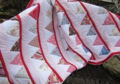 Candy Stripes Quilt - handmade by Adaliza www.adaliza.co.uk Picnic Blanket, Outdoor Blanket, Striped Quilt, Candy Stripes, Baby Car Seats, Quilts, Children, Handmade, Scrappy Quilts