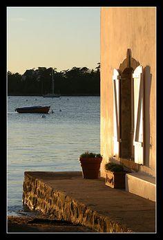 #Bretagne #Finistere - 7 novembre : coucher du soleil à L'Ile-Tudy © Paul Kerrien @ http://toilapol.net