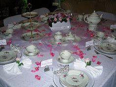 Chá de Mulheres: Mais idéias de decoração para mesa de chá II