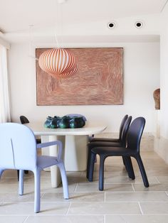 Crane in the Sky by YSG Studio Red Feature Wall, Cranes In The Sky, Walnut Timber, Tulip Chair, Aboriginal Painting, Curved Sofa, Australian Homes, Interior Design Studio, Room Interior