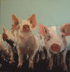 Hybrid Art, Pig Art, Animal Sketches, Animal Paintings, Figure Painting, Figurative Art, Painting Inspiration, Illustration Art, Illustrations