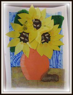 Van Gogh multi-media sunflower lesson