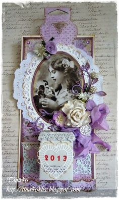 I am in love with this purple tag from Tina`s Kreativblog: LLC - Dezember Challenge