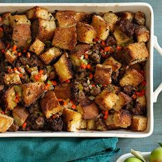 Beer-Brat Dressing #thanksgiving #easysides #dressing #stuffing