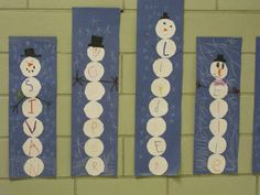 Mrs. Lyons's Kindergarten Blog: Snowman Name Graph