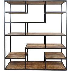 kast-met-vakken-roomdivider-metaal-hout-210cm