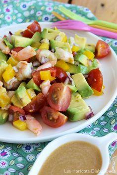 Salade avocats crevettes poivrons tomates (2)