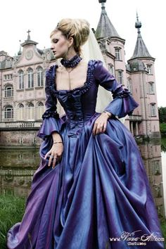 Rococo ball gown - ornamented with lots of trims and sashes ~ historically inspired gowns handmade to order.
