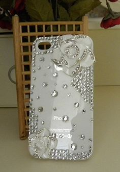 Classy white phone cover